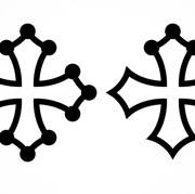 Construire une croix-occitane vectorielle
