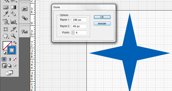 Tutoriel Illustrator - création de l'étoile