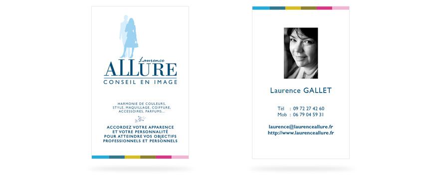 Cration De La Charte Graphique Flyer Et Carte Visite Laurence