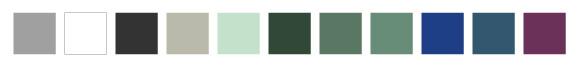 Palette de couleur douce, actuelle et zen