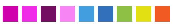 Choix de couleur et palette couleur
