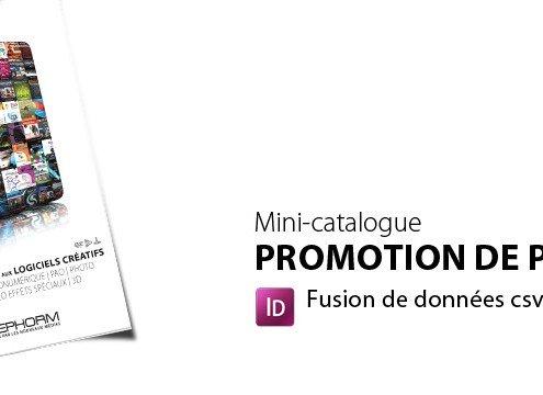 Mini-catalogue de promotion produti indesign