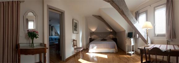 Photo panoramique Gîtes de charme - Chambre