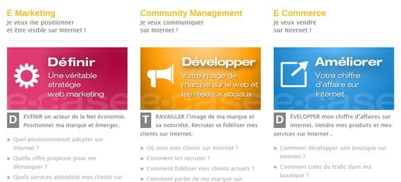 Charte graphique Site Wordpress : carrés de couleurs vives