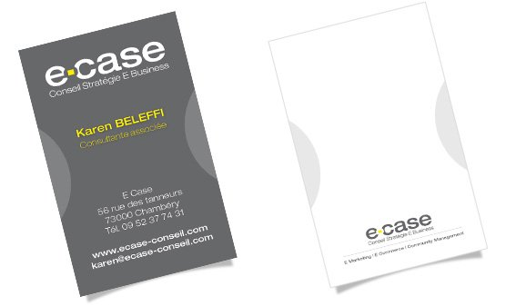 Creation De Carte Visite Pour E Case Conseil Webmarketing