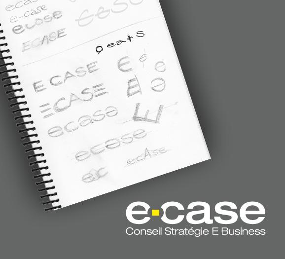 Esquisse et travail sur le logotype Ecase conseil
