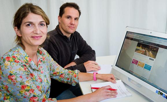 Karen Beleffi (E Case) et Fabrice Court (créateur Wordpress)