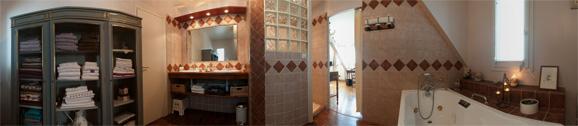 Photo panoramique Gîtes de charme - Salle de bains