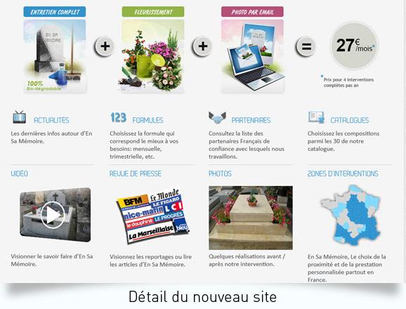 Habillage site wordPress En sa mémoire