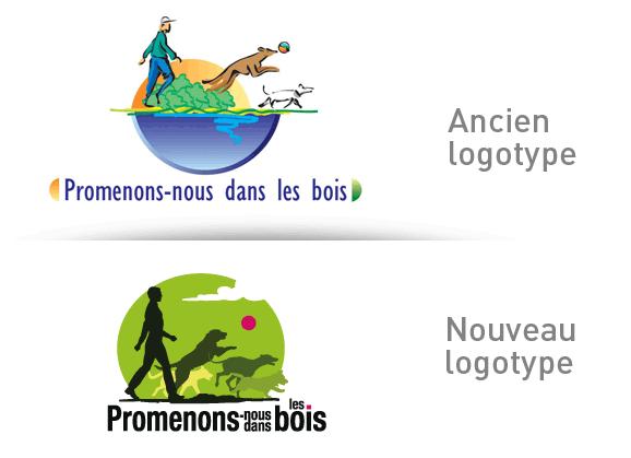 """Refonte du logotype de """"promenons-nous dans les bois"""""""