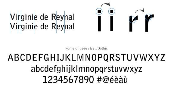 Réglages fins typographiques pour la création d'un logo