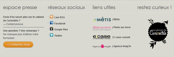 Ré-organisation du footer WordPress