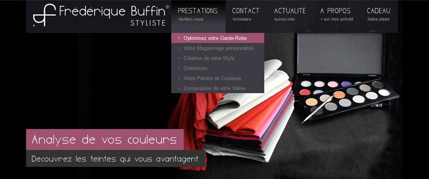 Création site Wordpress Fréderique Buffin Styliste Montréal