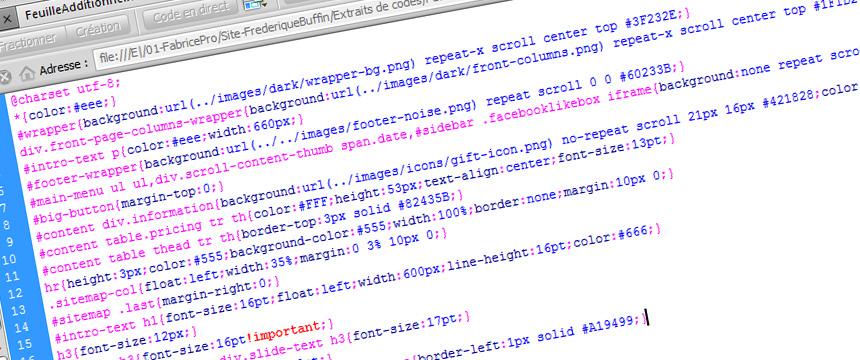 Personnalisation de la feuille CSS