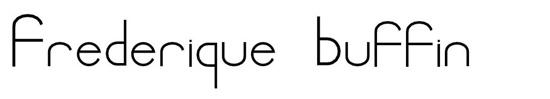 Logo original Frédérique buffin