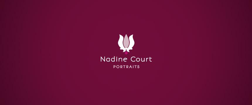 Création de logotype pour Nadine Court - Portrait