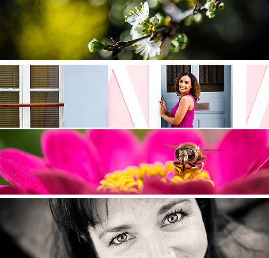 Créations de bannière pour le site Portrait de Nadine