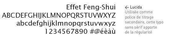 Lucida Choix typographique
