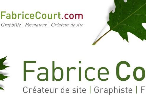 Nouveau logo Fabrice Court créateur de site wordpress