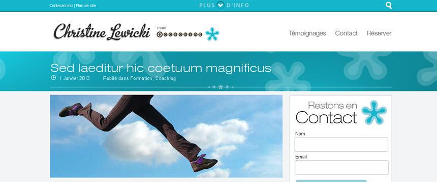 Christine Lewicki création de design site wordpress