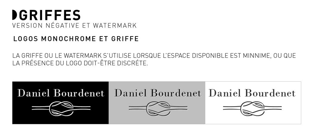Griffes et logo Daniel Bourdennet