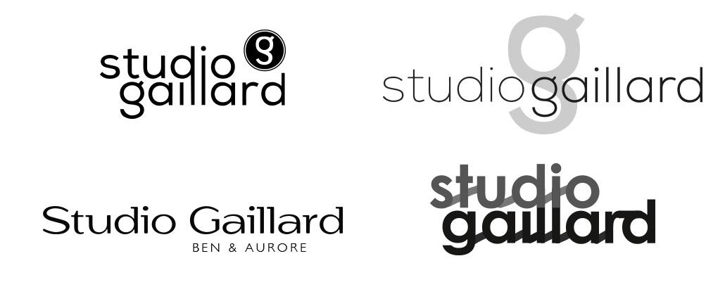 Création de logo Ben & aurore - Recherches préliminaires