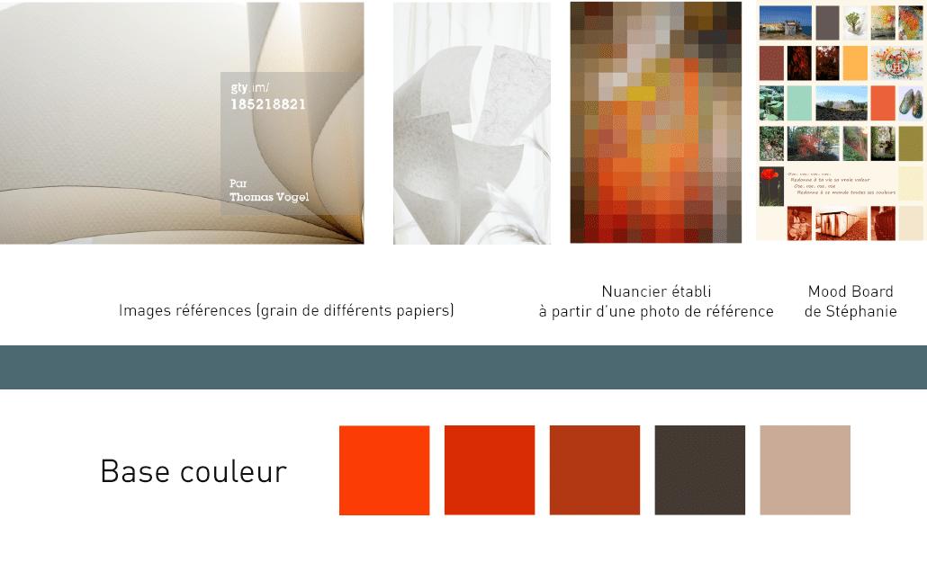 mille et une feuille choix des couleurs