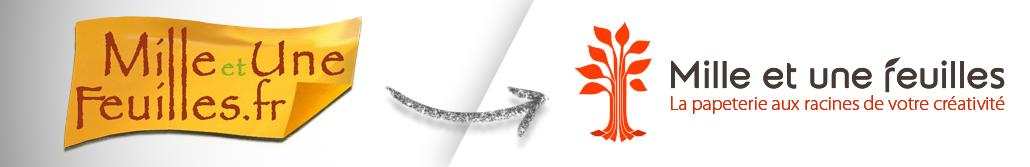 Refonte du logo de Mille et une feuilles