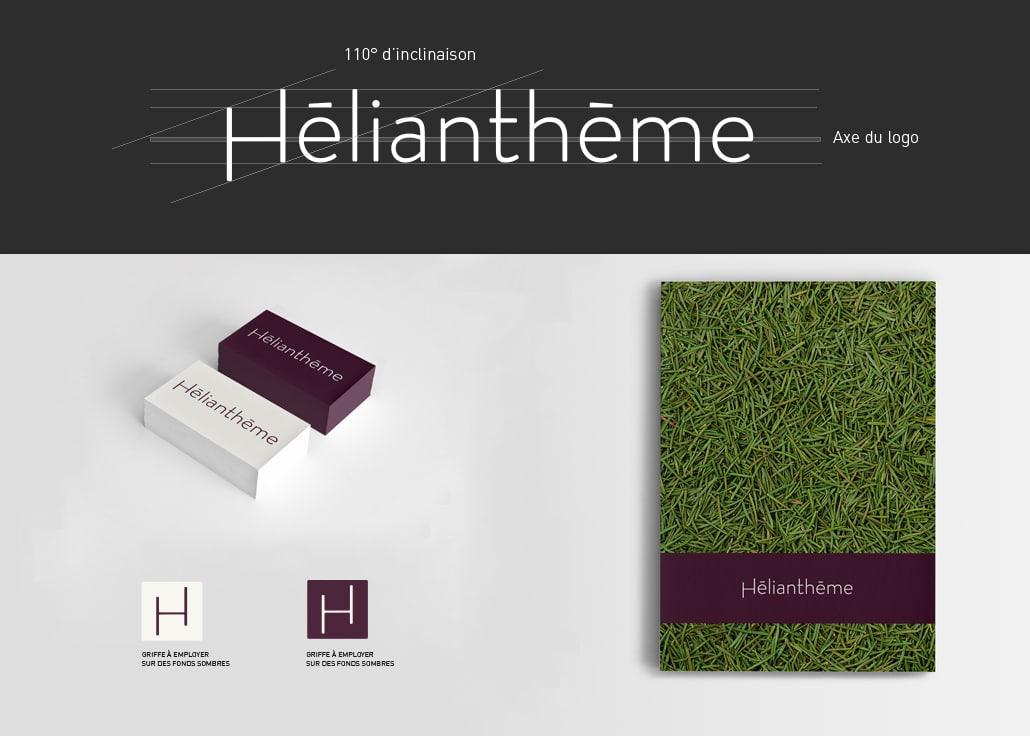 Proposition finale - Logo Hélianthème