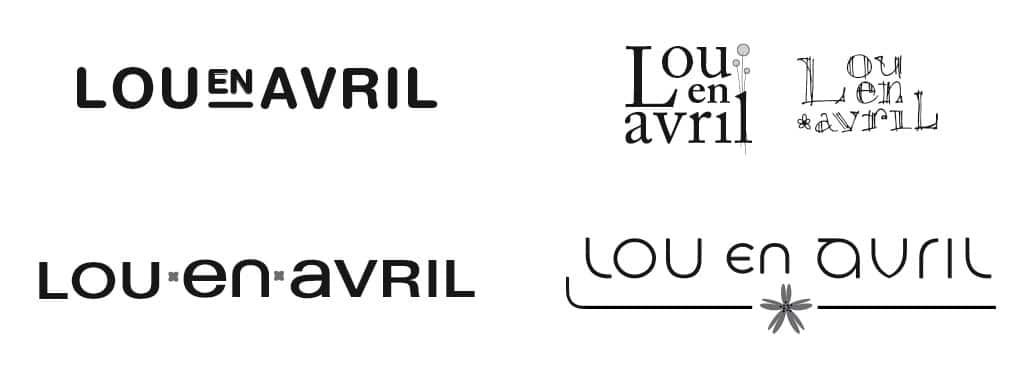 rough création de logo lou en avril