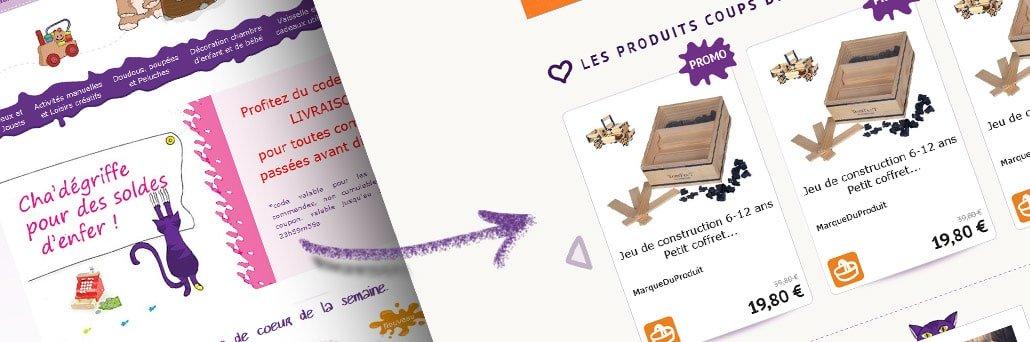 Création du design du nouveau site cha'gribouille
