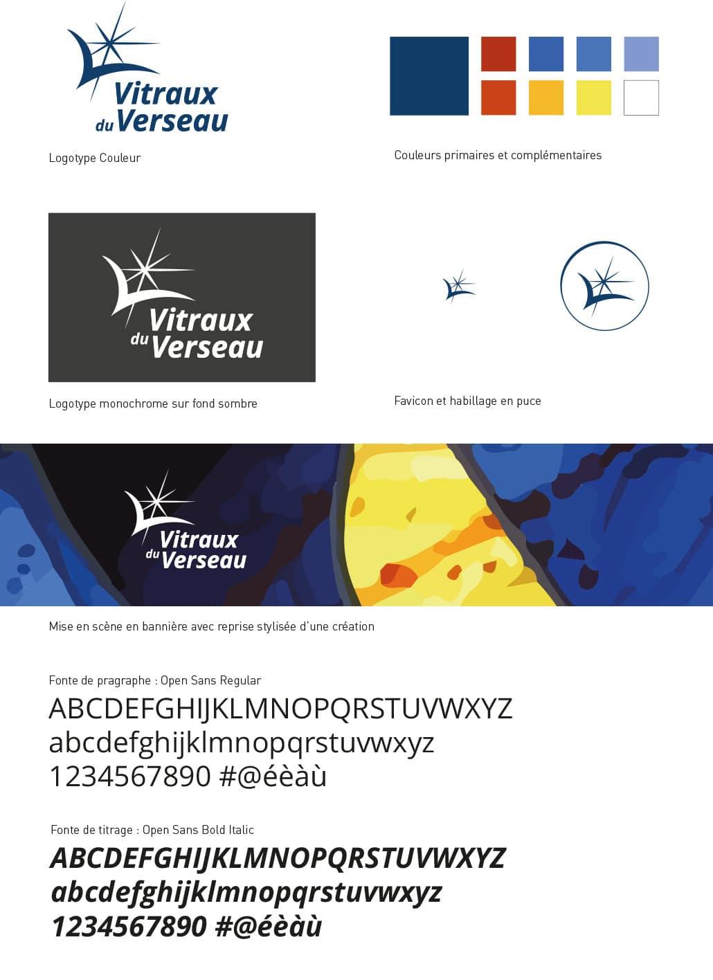 création du logo verseau