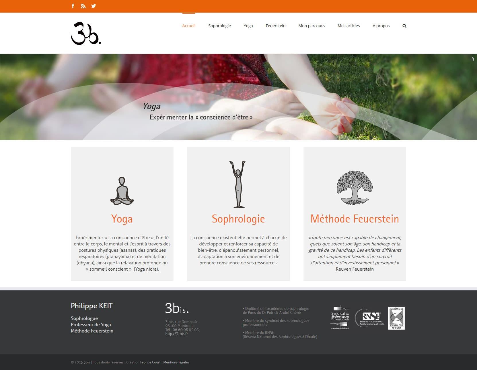 page accueil wordpress création de site
