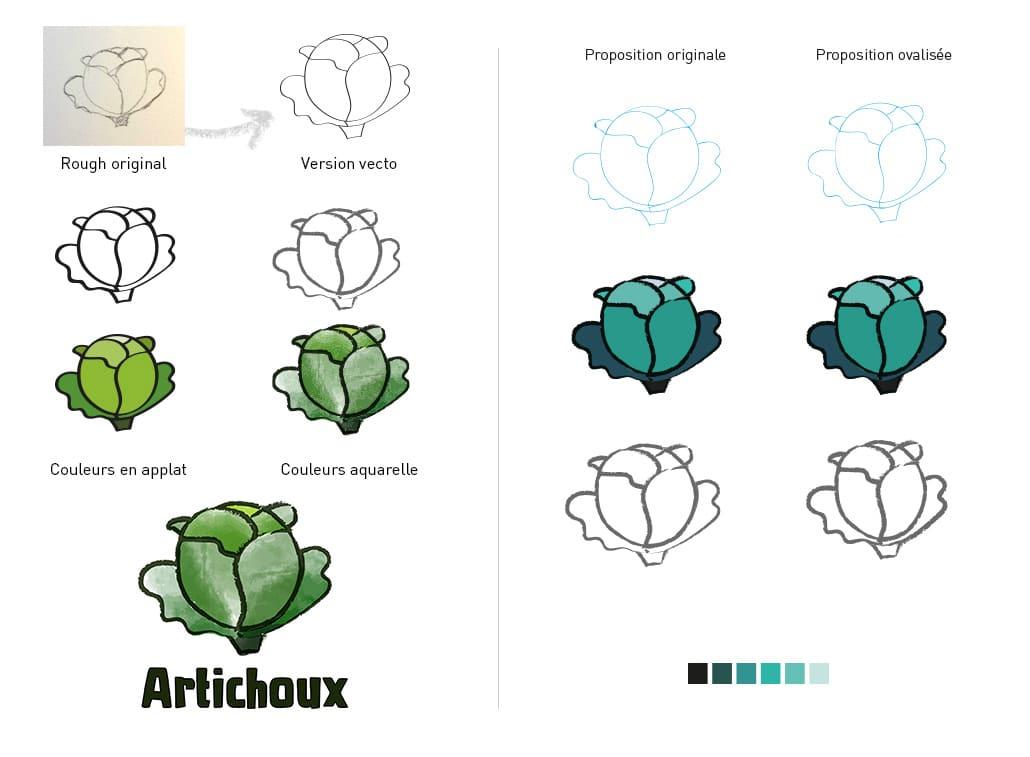 création de logo artichoux nouvelles propositions