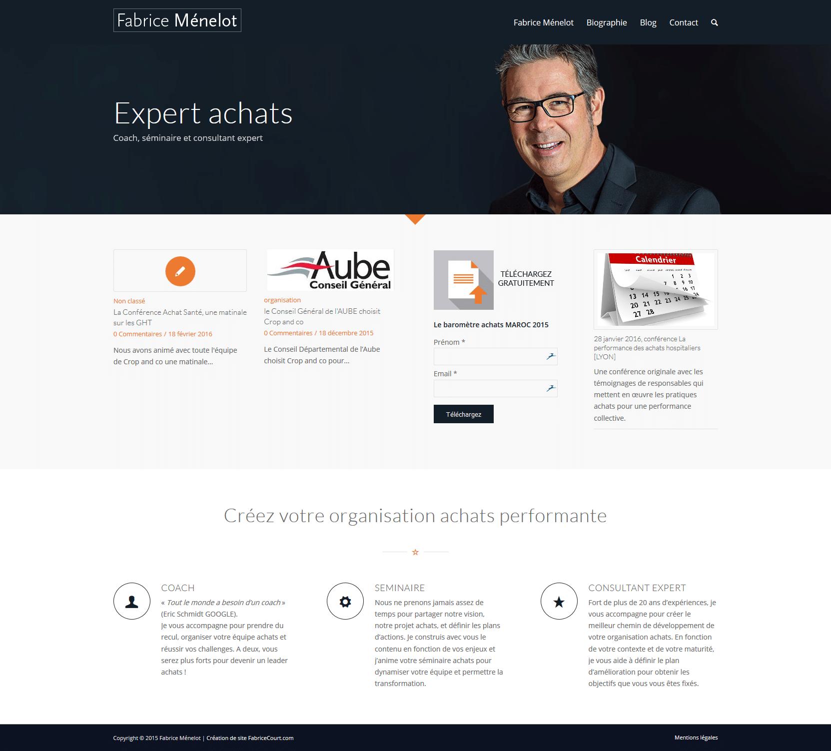 Fabrice Menelot Site wordpress professionel