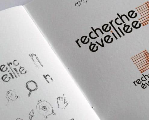 Recherche éveillée creation de logo