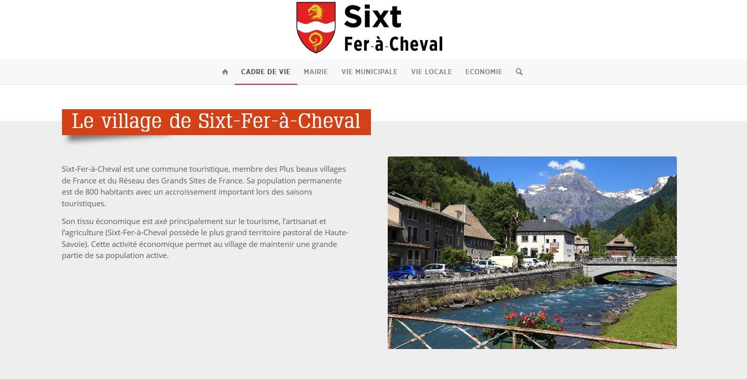 mairie de Sixt site Wordpress