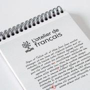 Atelier de Français création de logo