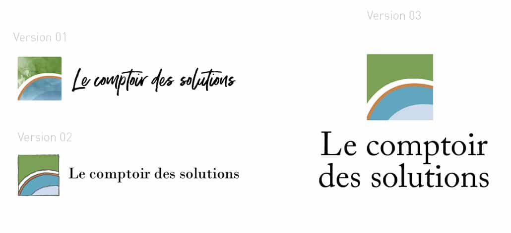 création Logotype Le comptoir des solutions