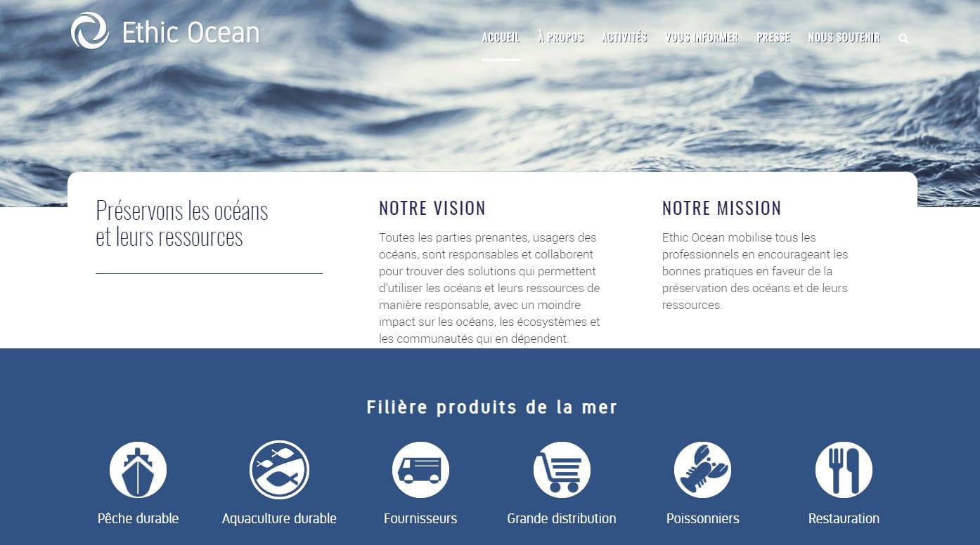 ethic ocean création de site WordPress