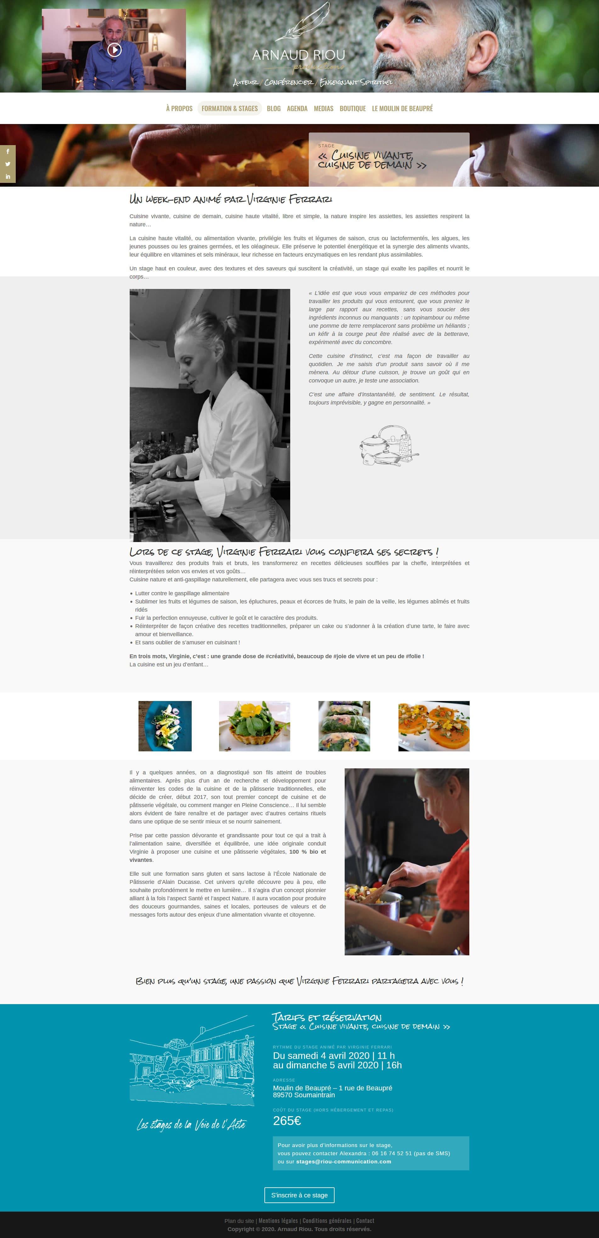 Page Arnaud Riou Cuisine Vivante