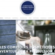 Site one page WordPress Comptoirs-cosmetiques
